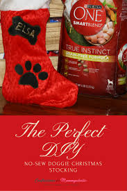 diy no sew dog christmas stocking confessions of a mommyaholic