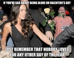 Alone On Valentines Day Meme - sad valentines day meme valentines best of the funny meme