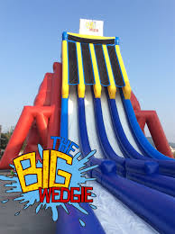 Backyard Water Slide Inflatable by Introducing The Big Wedgie The Tallest Inflatable Water Slide In