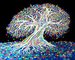 electric rainbow tree digital by nick gustafson