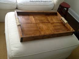 coffee table ottoman wrap tray reclaimed wood drink rest table