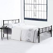 amazon com greenforest metal bed frame twin size 6 legs mattress