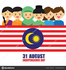 Malaysai Flag Malaysia National Independence Day Illustration Cute Cartoon