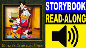 mickey mouse read along story book mickey u0027s christmas carol