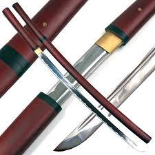 katana kitchen knives handmade japanese shirasaya samurai katana sword sharp wooden