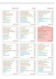 menu cuisine collective menu entreprise le cuisinier mars 2014 vici solutions