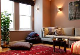 bedroom area rug and coffee table with cofa also window