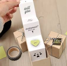 asking to be a bridesmaid ideas diy will you be my bridesmaid favor boxes godparents