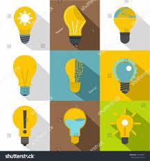 Flat Light Bulb Light Bulb Icons Set Flat Set Stock Vector 701034001 Shutterstock