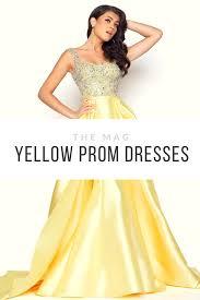 yellow prom dresses mac duggal