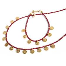 coin necklace gold images Turkish gold coin necklace amp bracelet ruby ebay jpg