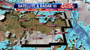 Wisconsin Road Conditions Map by First Warn Weather Team Wednesday Morning Snow Update