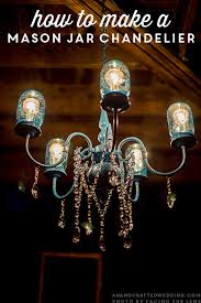 Making Chandeliers At Home Diy Mason Jar Chandelier Mason Jar Chandelier Jar Chandelier