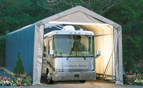 shelter logic portable rv garage shelters sizes from 13 u0027 15