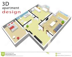 Plan Apartment by 3d Isometric Floor Plan For Apartment Vector Illustration Of
