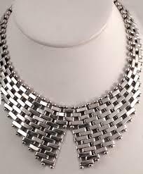 antique silver necklace chains images Vintage modernist necklace signed jondell ent inc mexico jpg