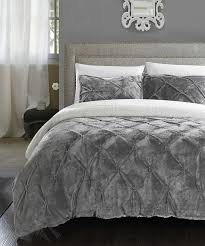 love this gray eugenia plush comforter set by chic home design on