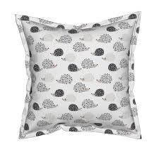 scandinavian sweet hedgehog illustration for kids tea towels by