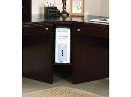 cape corner desk in espresso 92033