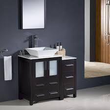 shop fresca bari espresso single vessel sink bathroom vanity with
