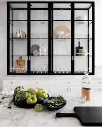 black kitchen pantry cupboard kitchen shelving black glass storage for the kitchen