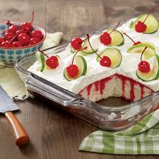 cherry limeade poke cake taste of the south