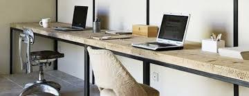 bureau sur 2 bureau sur mesure bois metal jpg
