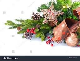 christmas decoration xmas tree decorated baubles stock photo