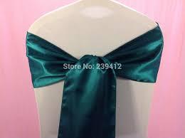 teal chair sashes 164 teal green wedding satin chair sash satin sash for