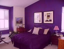 Nice Bedroom Wall Colors Dark Purple Wall Paint Decoration In Cute Modern Bedrooms Ideas
