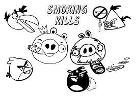angry bird pigs smoking kills advertisement coloring pages bulk
