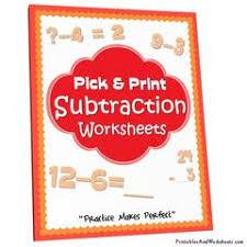 subtraction worksheets printables u0026 worksheets