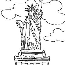 statue of liberty picture coloring page statue of liberty picture