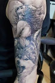 forearm wolf tattoos great moon pictures part 7 tattooimages biz