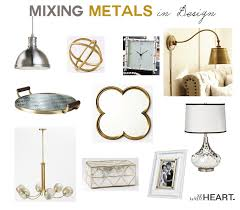 mixing metals in design withheart