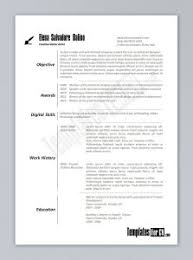Free Cool Resume Templates Word Free Resume Templates Word 2010 Resume Template And Professional