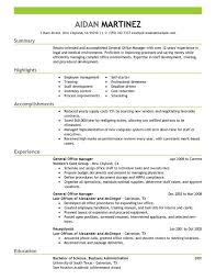 office manager resumes general manager resume exles free to try today myperfectresume