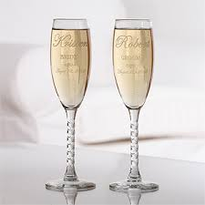 personalized glasses wedding customized wedding flute glasses prime time print