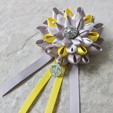 yellow and gray baby shower decorations baby shower decorations yellow gray white to be corsage