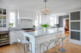 Transitional Kitchen Ideas Astounding Transitional Kitchen Type Featuring White Wooden Color