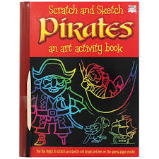 scratch and sketch pirates activity packs at the works