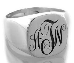 monogram rings sterling silver sterling silver letter f shield signet ring by orforddesign 80 00