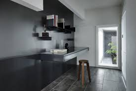 interior design awesome floating computer desk with black tile