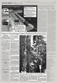 Seeking You Lost Wings Crash At La Guardia Fokker S Wing Design Called A Problem In
