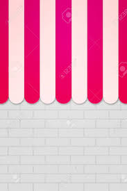 Striped Awning Pink Striped Awning Backdrop Stock Photo Picture And Royalty Free