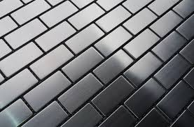 metal floor tiles and sf stainless steel x brick metal mosaic
