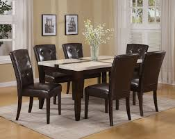 Acme Dining Room Set Marble Top Dining Table Acme Justin White Faux Marble Top Dining