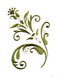 baroque swirl 15 embroidery design