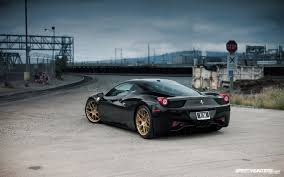 ferrari gold black ferrari 458 with some nice gold hre wheels cool finds