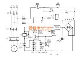 the motor overheating and influent protection circuit circuit
